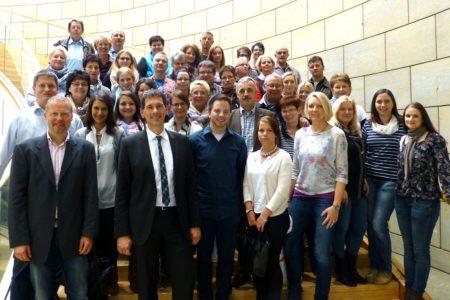 Besuch in Düsseldorf – Mitarbeiterinnen und Mitarbeiter des Amtsgerichtes Siegen besuchen Jens Kamieth