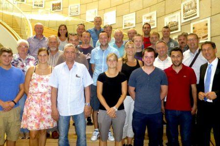 Mitglieder der Deutschen Polizeigewerkschaft und vom Bund der Kriminalbeamten zu Besuch in Düsseldorf