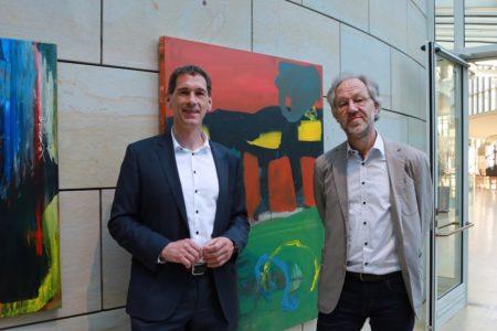 Kamieth eröffnet Ausstellung des Künstlers Bruno Obermann im Landtag
