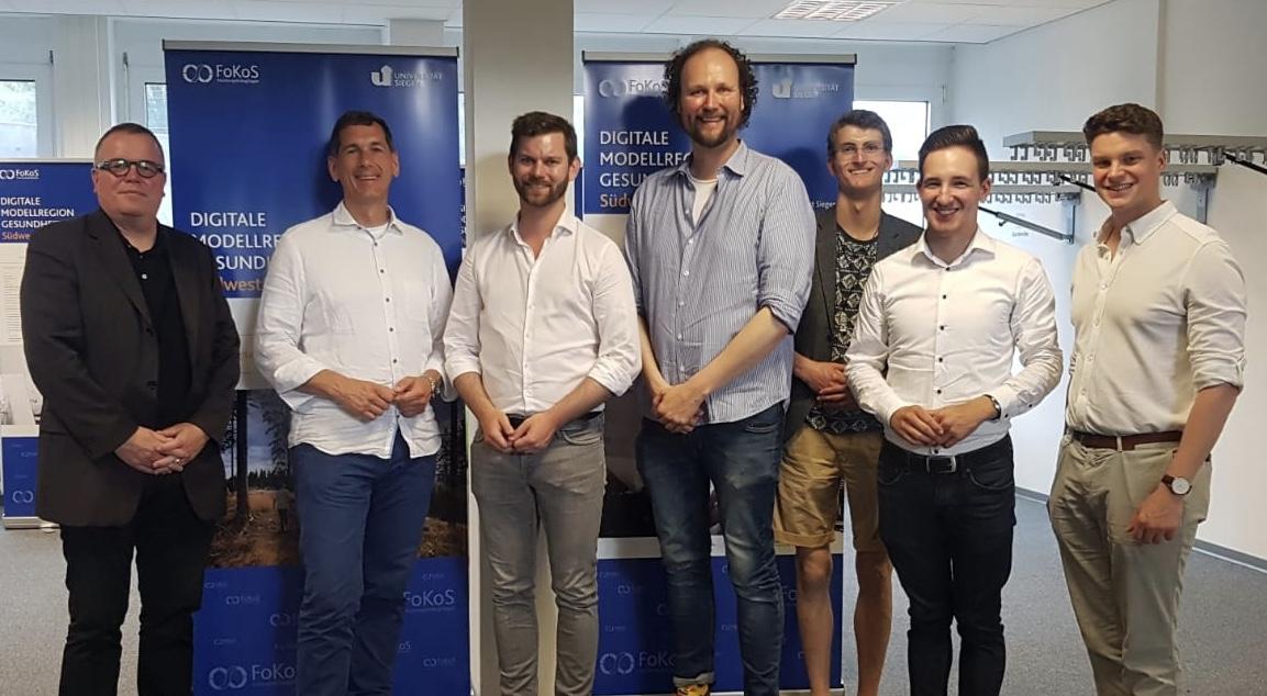 v.l.n.r. Dr. Olaf Gaus, Jens Kamieth MdL, Florian Braun MdL, Prof. Dr. Dr. Björn Niehaves, Sebastian Kögel, Alexander Patt, Christian Vogt