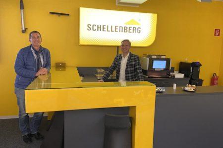 Jens Kamieth besuchte die Firma Schellenberg